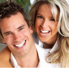 happy couple after teeth whitening