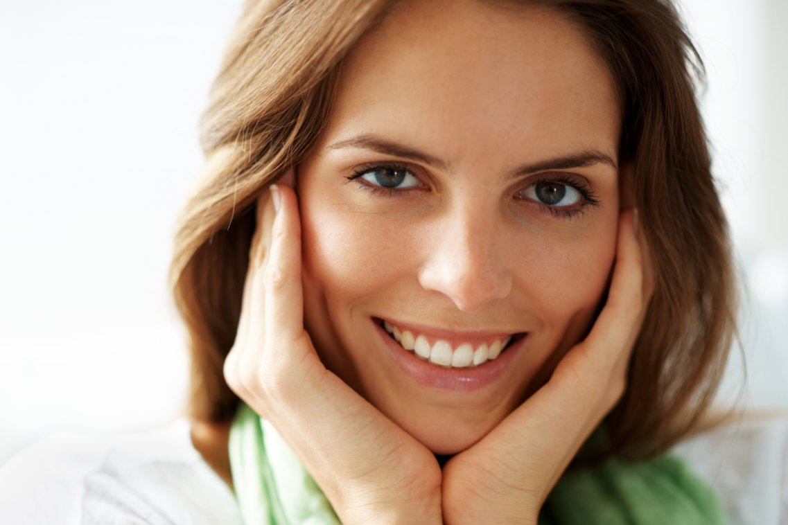 beautiful woman with a healthy smile